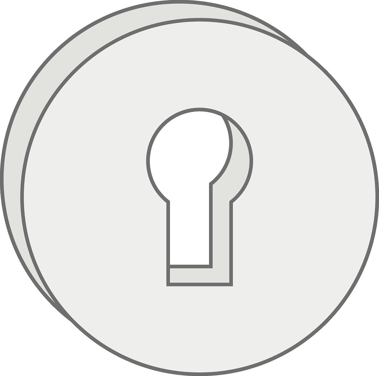 keyhole, keyhole plate, lock